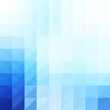 Abstract, blue geometric background. Stock Image