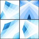 Abstract blue geometric background. Vector illustration Stock Images