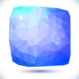Abstract blue geometric background Royalty Free Stock Photos