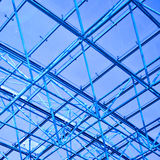 Abstract blue geometric ceiling Royalty Free Stock Photo