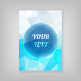 Abstract blue geometric cover design with triangular polygons an Royalty Free Stock Photos