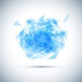 Abstract blue geometric explosion. Vector speech Royalty Free Stock Photo