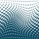 Abstract blue geometric hipster fashion design print halftone triangle pattern Stock Photo