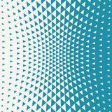 Abstract blue geometric hipster fashion design print halftone triangle pattern Stock Images