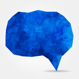 Abstract blue geometric speech bubble Royalty Free Stock Images