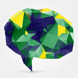 Abstract blue geometric speech bubble with triangular polygons i Royalty Free Stock Photos