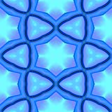Abstract blue geometric texture or background made seamless Stock Image