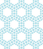 Abstract blue geometric triangle design hexagon dots pattern Royalty Free Stock Photos