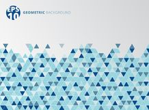 Abstract blue geometric triangle structure background. Royalty Free Stock Images