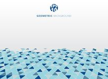 Abstract blue geometric triangle structure perspective backgroun. D. Vector illustration Stock Image