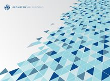 Abstract blue geometric triangle structure perspective backgroun. D. Vector illustration Stock Photography