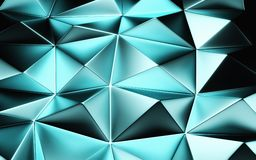 An abstract blue geometrical background. 3D render stock photography