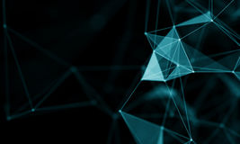 Abstract Blue Geometrical Background . Futuristic technology style. Neon Sign . Futuristic Technology HUD Element. Elegant Abstract background . Big data Royalty Free Stock Images