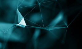 Abstract Blue Geometrical Background . Futuristic technology style. Neon Sign . Futuristic Technology HUD Element. Elegant Abstract background . Big data Royalty Free Stock Photos