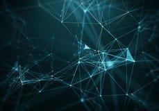 Abstract Blue Geometrical Background . Futuristic technology style. Neon Sign . HUD Element . Elegant . Big data. Abstract Blue Geometrical Background stock illustration
