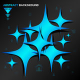 Abstract blue Geometrical vector background Royalty Free Stock Photography
