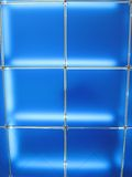 Abstract blue glass construction, square frames, Royalty Free Stock Photos