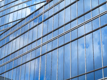 Abstract blue glass facade modern business center building Stock Image