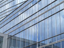 Abstract blue glass facade modern business center building Royalty Free Stock Image