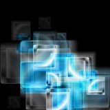 Abstract blue glass squares. Vector Stock Photos