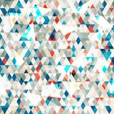 Abstract Blue Glass Triangles Seamless With Grunge Stock Photos