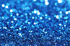 Abstract blue glitter background Stock Images