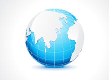 Abstract blue globe Stock Images