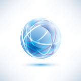 Abstract blue globe symbol Stock Image