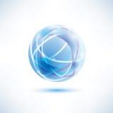 Abstract blue globe symbol vector illustration