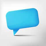 Abstract blue glossy speech bubble Stock Image