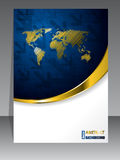 Abstract blue gold brochure Royalty Free Stock Images