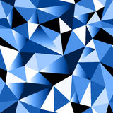 Abstract blue gradient geometric rumpled triangular seamless background Royalty Free Stock Image