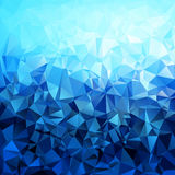 Abstract blue gradient polygon shaped Stock Images