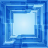 Abstract blue gradient square text layout Royalty Free Stock Photo