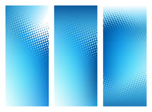 Abstract Blue Graphic Background Banner Set. Abstract graphic header background perfect for ads, posters, banners or flyers where plenty of copy space is needed Royalty Free Stock Photo
