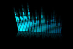 Abstract blue graphic equalizer. Royalty Free Stock Image