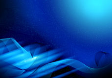 Abstract Blue graphics background Stock Images