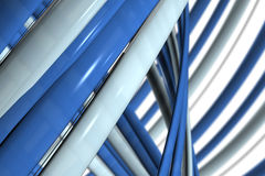 Abstract Blue and Gray Lines Stock Image