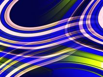 Blue yellow pink circular shapes background, abstract colorful geometries stock images