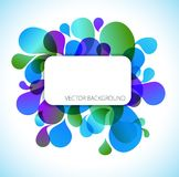 Abstract blue and green background Stock Images