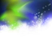 Abstract blue and green background. Abstract blue and green blurred spring background with dots and gradient to white - bokeh design royalty free illustration