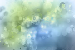 Abstract blue green background. Bokeh circles green blue background Stock Images
