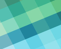 Abstract blue and green background with diamond block shapes in angled pattern and beach colors. Abstract geometric background in modern blue and green beach Royalty Free Stock Photography