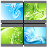 Abstract blue and green background Stock Image