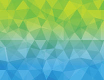 Abstract blue & green color Polygonal geometric ba Royalty Free Stock Photos