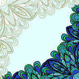 Blue-green floral frame Royalty Free Stock Photography