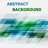 Abstract blue and green geometric overlapping background Stock Images