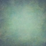 Abstract blue green hand-painted vintage background Stock Photos