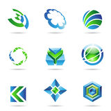 Abstract blue and green Icon Set 20 Stock Photo