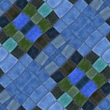 Abstract blue green ornamental kaleidoscopic mosaic pattern Stock Photos
